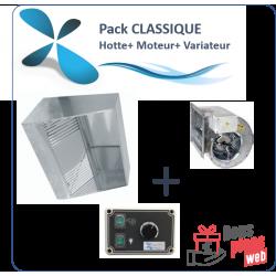 Pack CLASSIQUE Hotte de 1 à 3 m + Moteur 230V+...