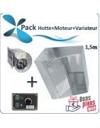 Pack Hotte avec moteur - Site Professionnel Prix €HT.